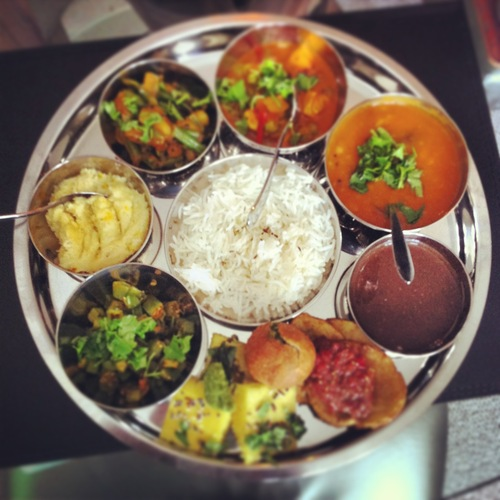 Gujarati Thali Social - Little bowls of the most amazing vegetarian Food