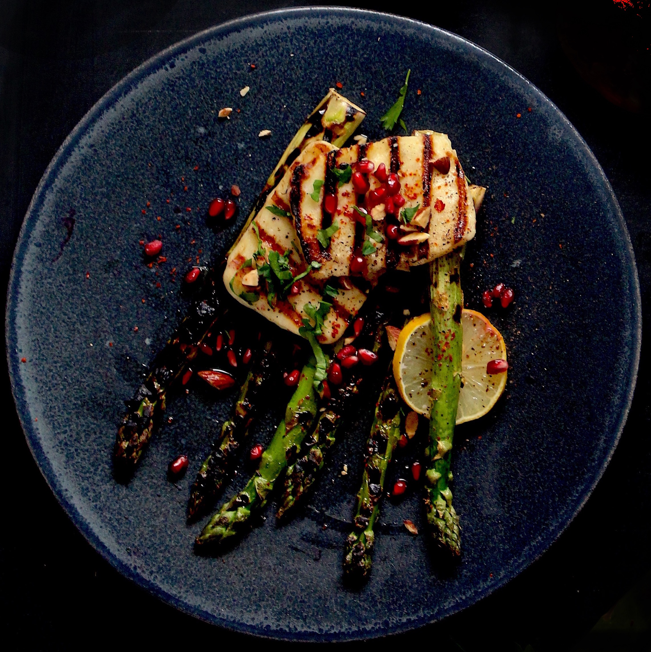 Chargrilled Asparagus and Halloumi Salad